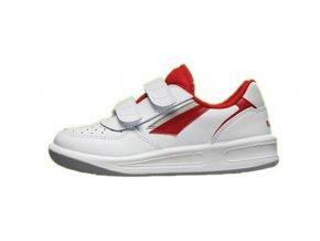 PRESTIGE M66759-10 dětské suchý zip bílá/červená