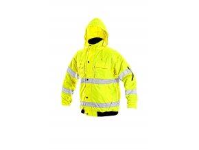 Reflexní bunda zateplená nepromokavá LEEDS 2 v 1 žlutá