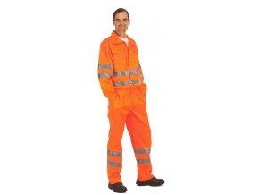Reflexní kalhoty do pasu KOROS oranžové