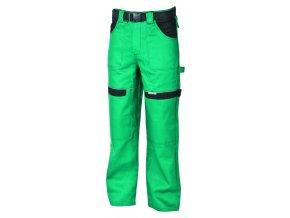 Montérkové kalhoty do pasu COOL TREND na 194 cm zelená/černá