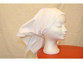 Šátek třírohý bílý