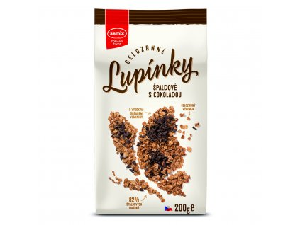 celozrnne lupinky spaldove s cokoladou 200 g original