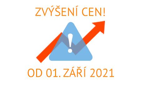 Zvýšení cen k 1. září 2021