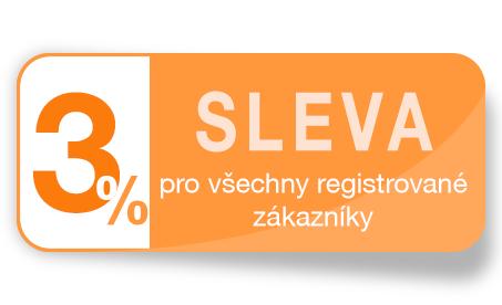 Sleva 3% pro všechny registrované zákazníky