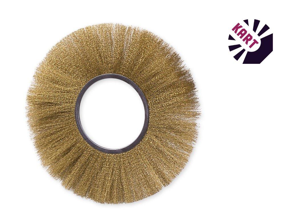 Drátěný kroužek ø 250 mm - mosaz