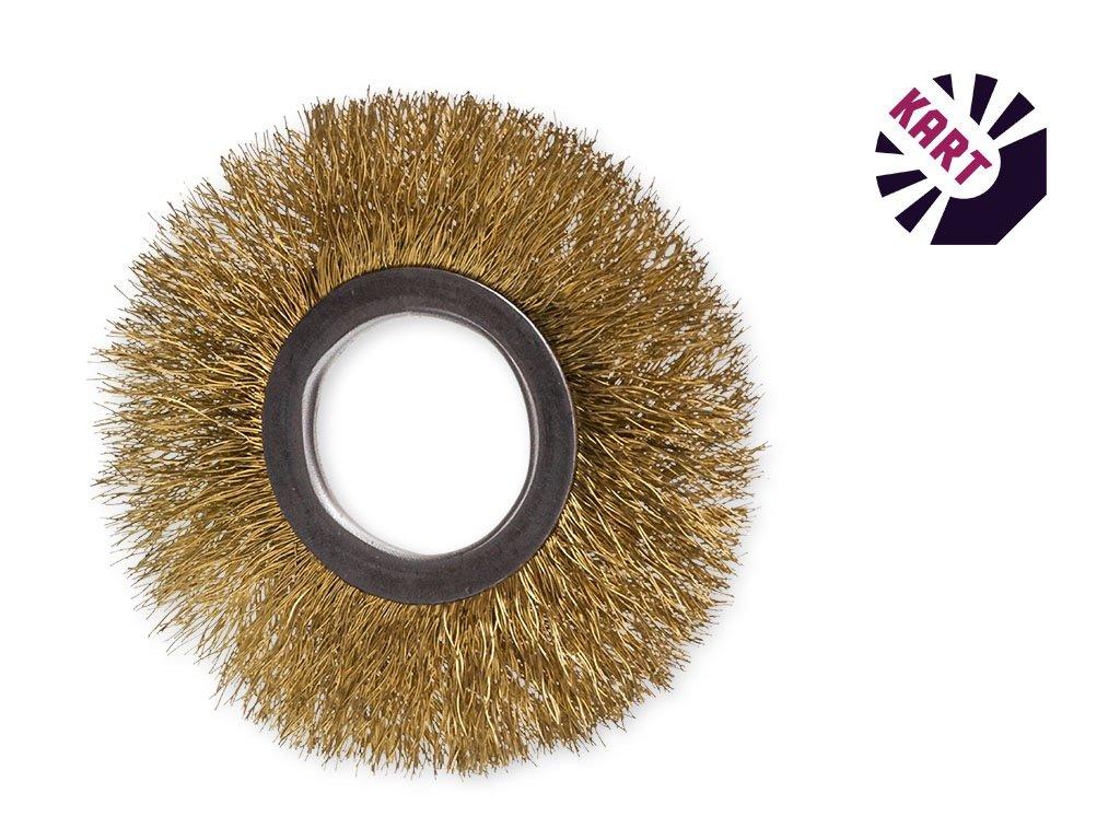 Drátěný kroužek ø 80 mm - mosaz