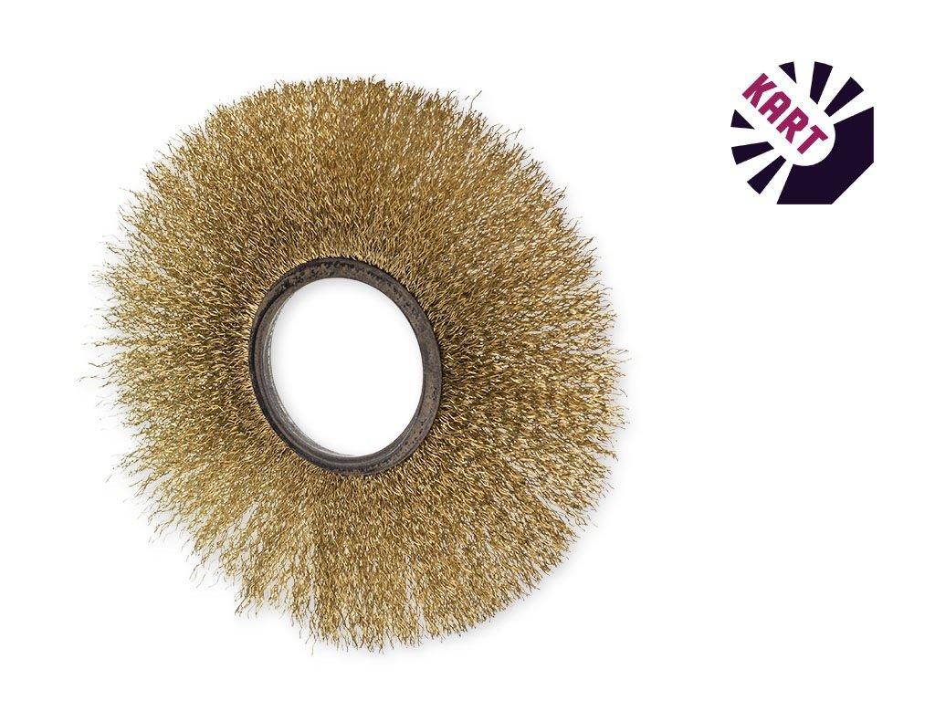 Drátěný kroužek ø 100 mm - mosaz