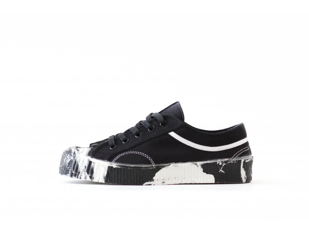 LOW TOP 55/1/6 BLACK-WHITE