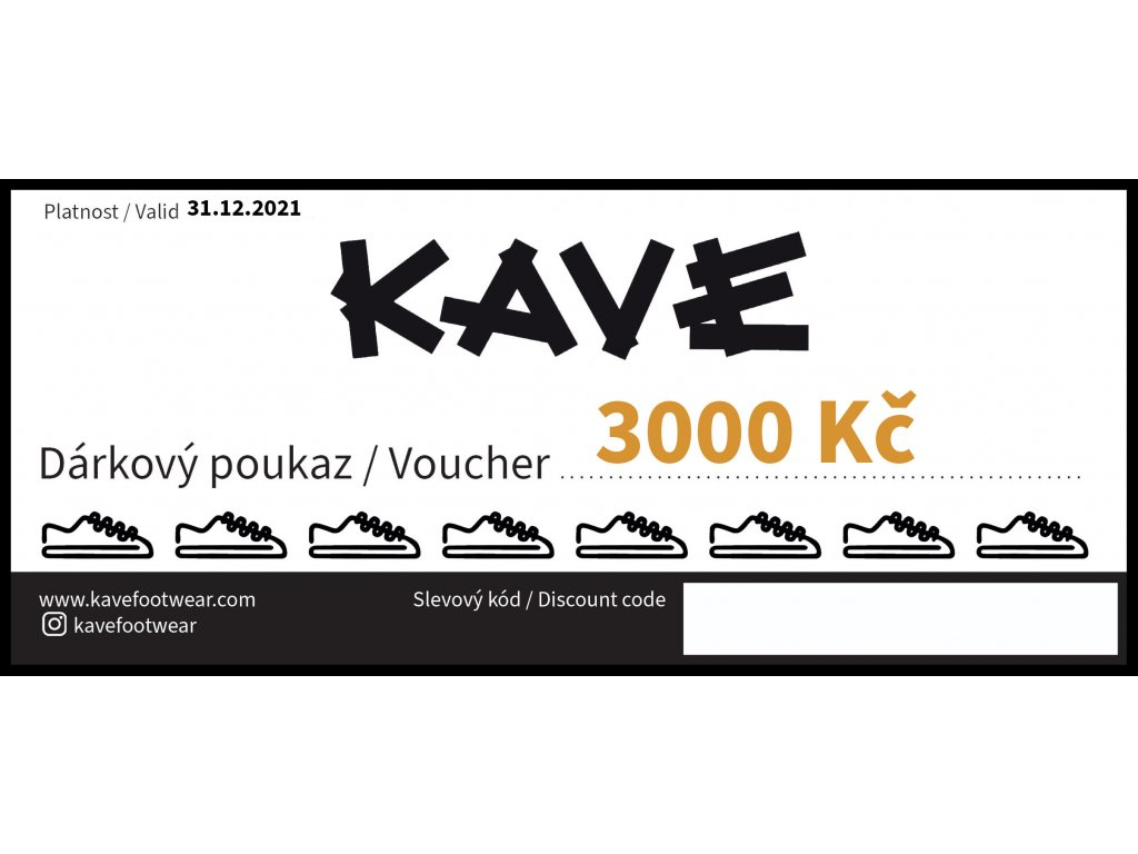 DARKOVY POUKAZ KAVE 3000