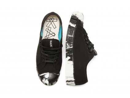 LOW TOP 55/1/14 BLACK-TURQUOISE