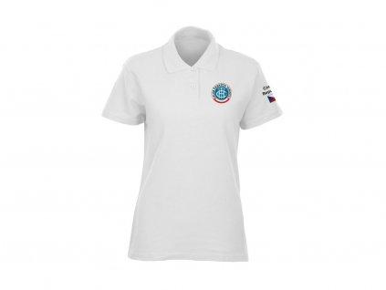 tričko s límečkem KČT dámské bílé