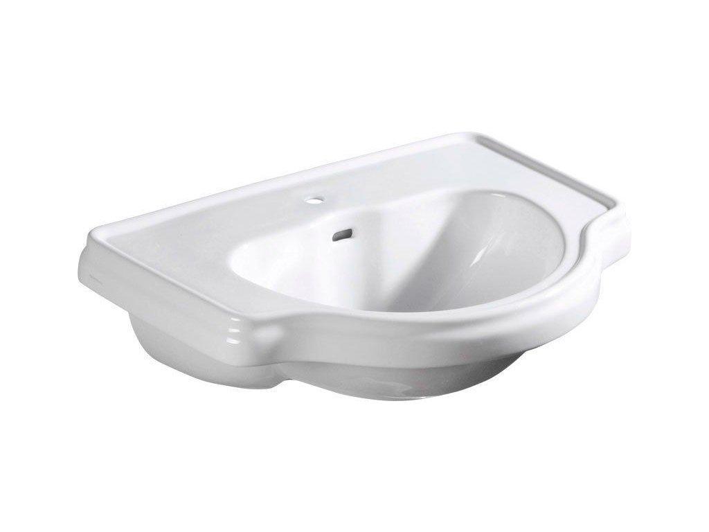 KERASAN - RETRO keramické umyvadlo 62x45,5cm, zápustné (103001)