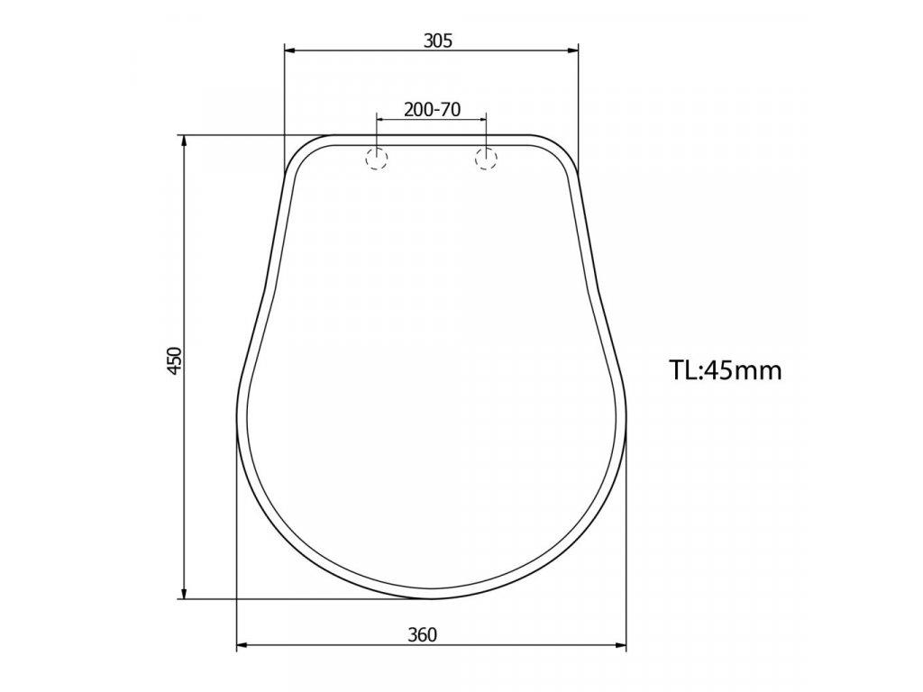 KERASAN - RETRO WC sedátko, dřevo masiv, ořech/chrom (109040)