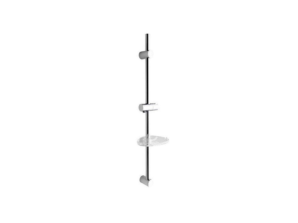 SAPHO - Posuvný držák sprchy s mýdlenkou, 810mm, chrom (nastavitelná rozteč) 1206-06