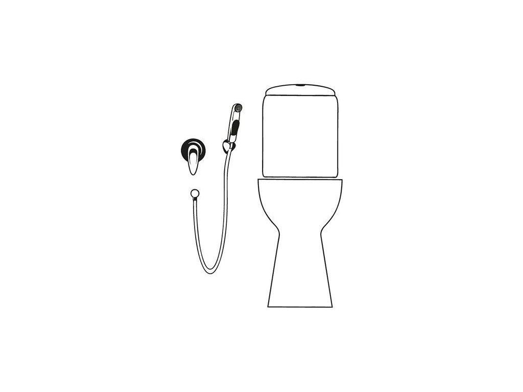 SAPHO - DELUXE bidetová sprška s držákem, chrom 12327205017