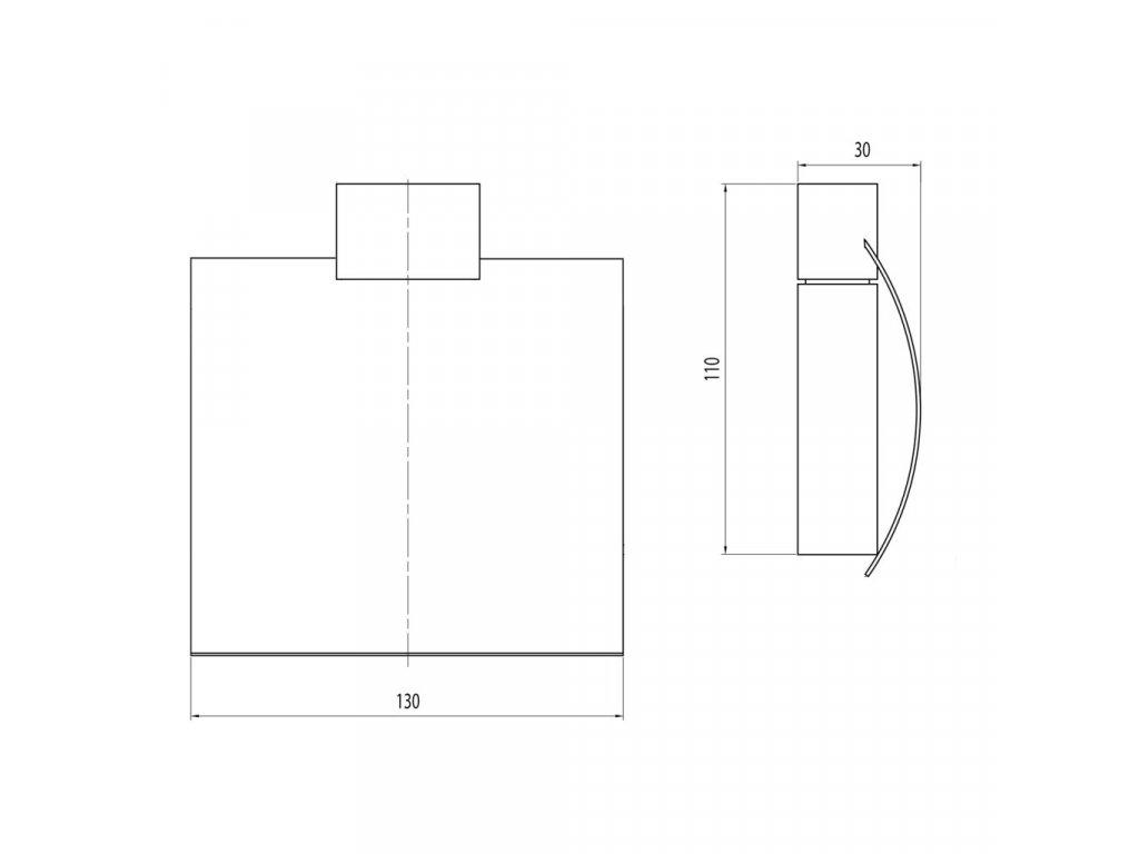 SAPHO - EVEREST držák toaletního papíru s krytem, chrom (1313-07)