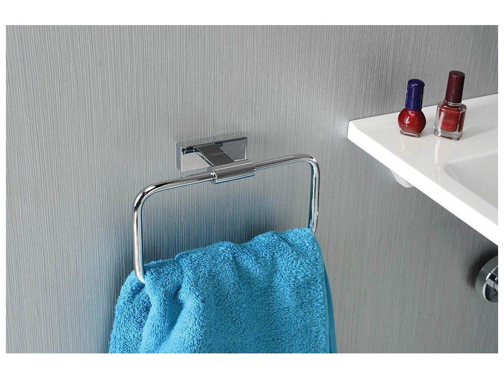 SAPHO - OLYMP držák ručníků hranatý, chrom 1321-06