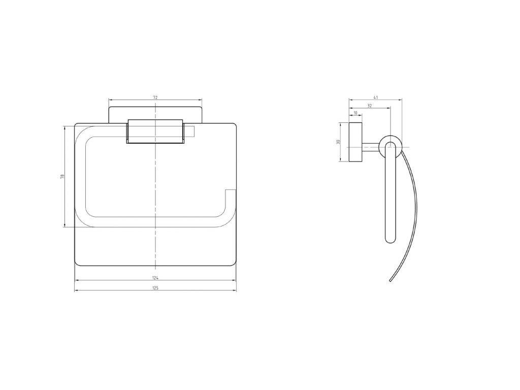 SAPHO - OLYMP držák na toaletní papír s krytem, chrom (1321-07)