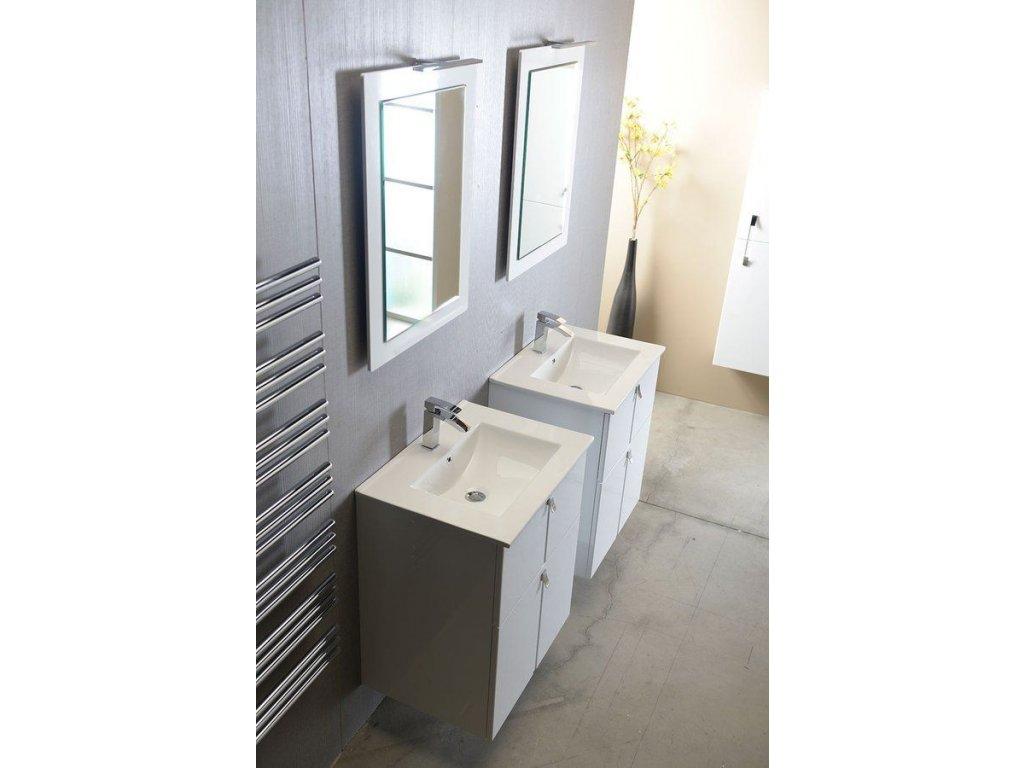SAPHO - SLIM keramické umyvadlo 76,5x46cm, nábytkové 1601-75
