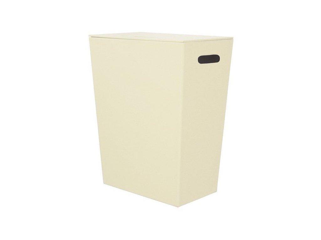 SAPHO - ECO PELLE koš na prádlo 43x48x26cm, krémová (2462CR)
