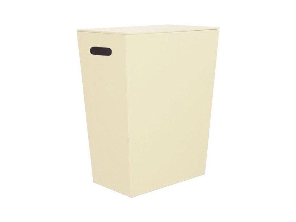SAPHO - ECO PELLE koš na prádlo 47x60x30cm, krémová 2463CR