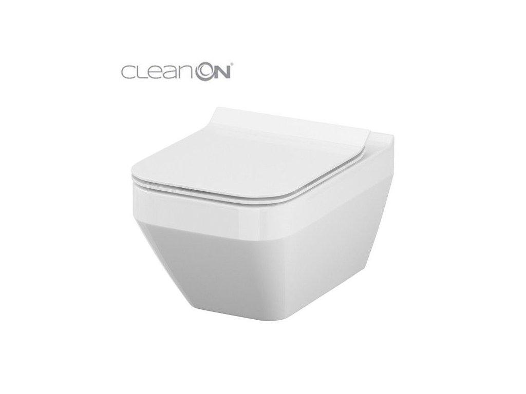 OPOCZNO - ZÁVĚSNÁ MÍSA CREA ČTVEREC CLEANON VČETNĚ SEDÁTKA S701-446