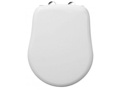 KERASAN - RETRO WC sedátko, polyester, bílá/chrom 109001