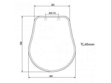 KERASAN - RETRO WC sedátko, polyester, bílá/chrom (109001)