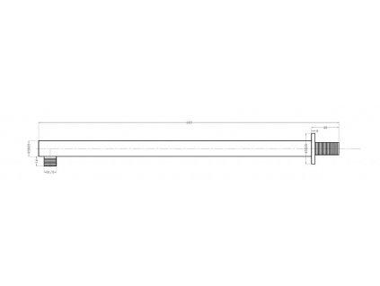 SAPHO - Sprchové ramínko 400mm, chrom SL400