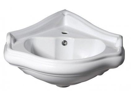 KERASAN - RETRO keramické umyvadlo 57,5x58cm, rohové 103201