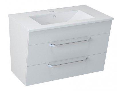 SAPHO - KALI umyvadlová skříňka 74x50x45cm, bílá (56076)
