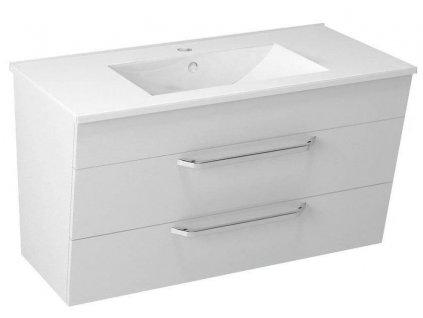 SAPHO - KALI umyvadlová skříňka 89x50x45cm, bílá (56091)