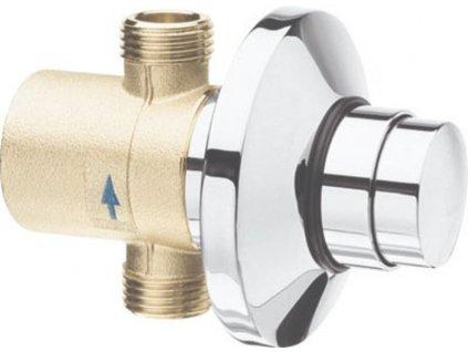 SILFRA - QUIK samouzavírací podomítkový ventil pro urinal, chrom QK11051
