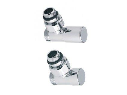 SAPHO - COMPACT připojovací sada ventilů ruční rohová, chrom (CP5015)