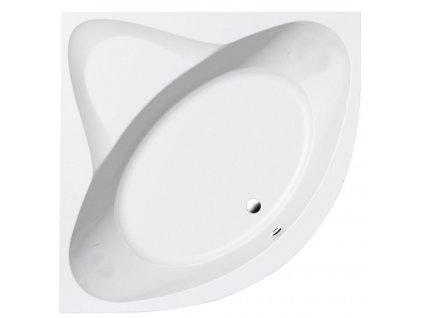 AQUALINE - DYJE rohová vana 150x150x42cm, bílá (A1550)