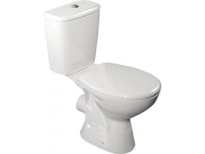 AQUALINE - JUAN WC kombi, dvojtlačítko 3/6l, zadní odpad, bílá LC2154