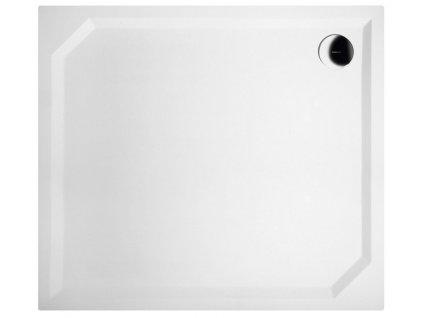 GELCO - SARA sprchová vanička z litého mramoru, obdélník 90x80x4cm, hladká (HS8090)