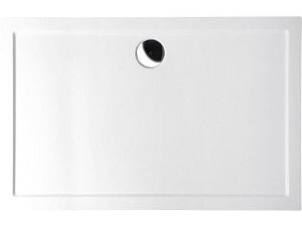 POLYSAN - KARIA sprchová vanička z litého mramoru, obdélník 110x90x4cm, bílá (59111)