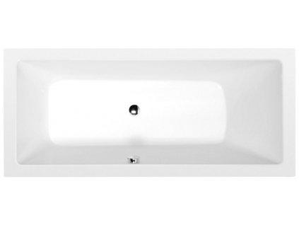 POLYSAN - MIMOA obdélníková vana 170x75x39cm, bílá 71709