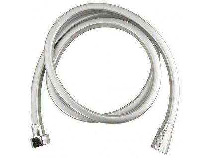 SAPHO - QUADROFLEX hranatá sprchová hadice, 150cm, stříbrná/chrom (1208-13)