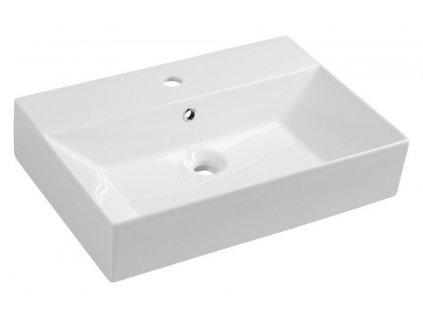 AQUALINE - SISTEMA keramické umyvadlo 60x42cm, bílá (10SF50060)