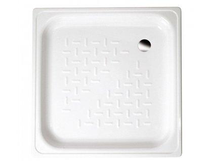 AQUALINE - Smaltovaná sprchová vanička, čtverec 70x70x12cm, bílá (PD70X70)