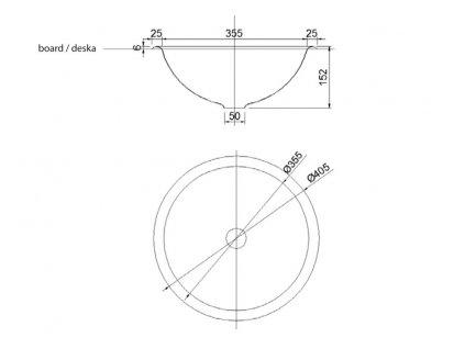 SAPHO - Zápustné umyvadlo nerezové, průměr 405 mm 13030.B