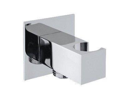 SAPHO - Držák sprchy hranatý, pevný, s vyústěním, chrom SG303