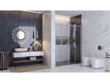 Aquatek - Tekno B4 - Luxusní sprchové dveře zasouvací 166-170 cm, sklo 8mm (TEKNOB4170)