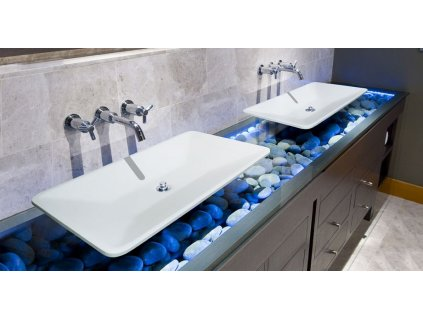 Aquatek - PLAY umyvadlo z litého mramoru 60x46 cm, bílé PLAY