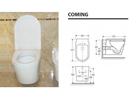 Aquatek - COMING závěsné WC (COMINGWC)