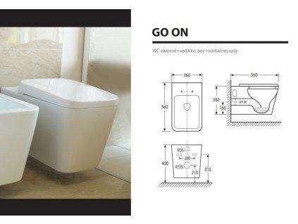 Aquatek - GO ON závěsné WC GOONWC