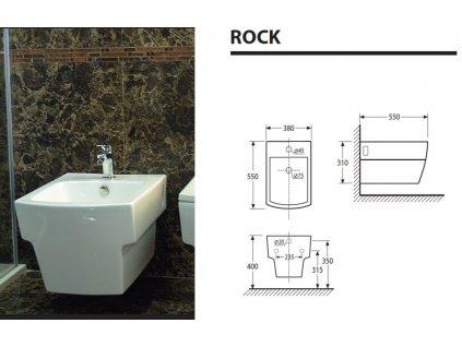 Aquatek - ROCK závěsný bidet ROCKBI