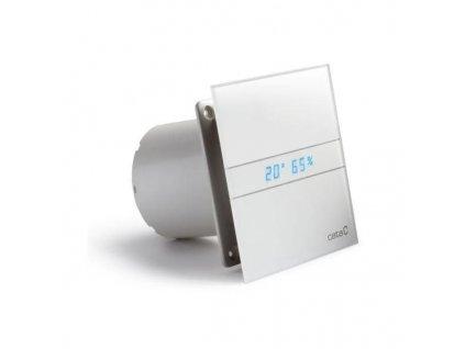 CATA - E-100 GTH koupelnový ventilátor axiální s automatem, 4W/8W, potrubí 100mm, bílá (00900200)